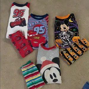 3 sets of Disney pajamas